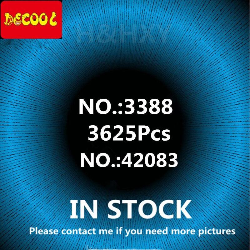 En STOCK DHL DECOOL 3388, 3625 piezas 3368, 2726 piezas de tres colores de coche de carreras de técnica de bloques de construcción ladrillos de juguete regalo de