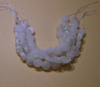 Gift Idea 10mm And 12mm Pure White Titanium Druzy Agate Coin Beads Pendants Drusy Agate Quartz