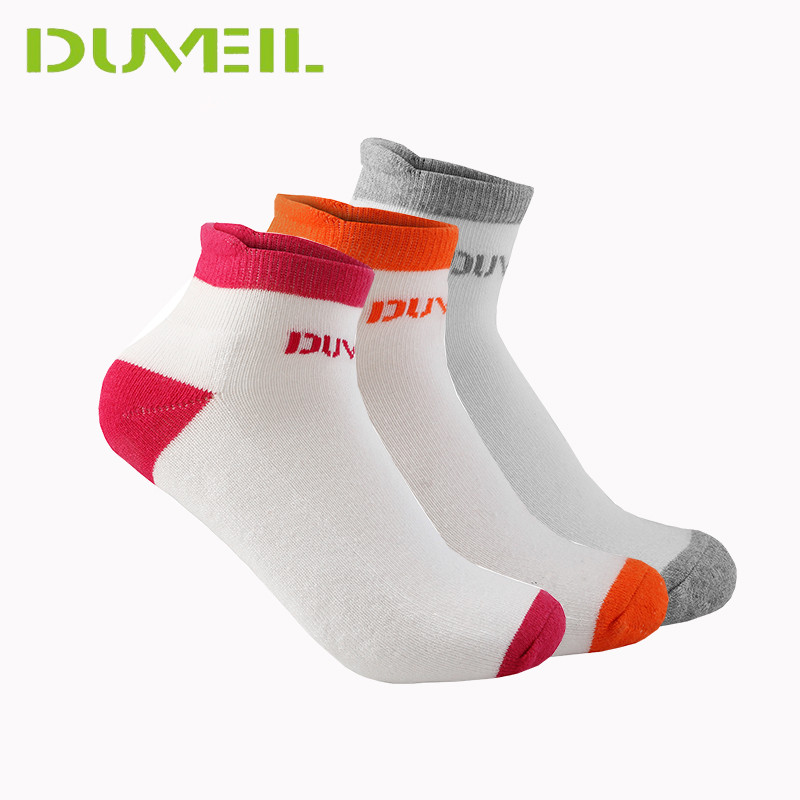 3Pairs Cotton Women Soft Sports Socks Elastic Thicken Hosiery High Achilles Tendon Running Cycling Socks Professional Outdoor