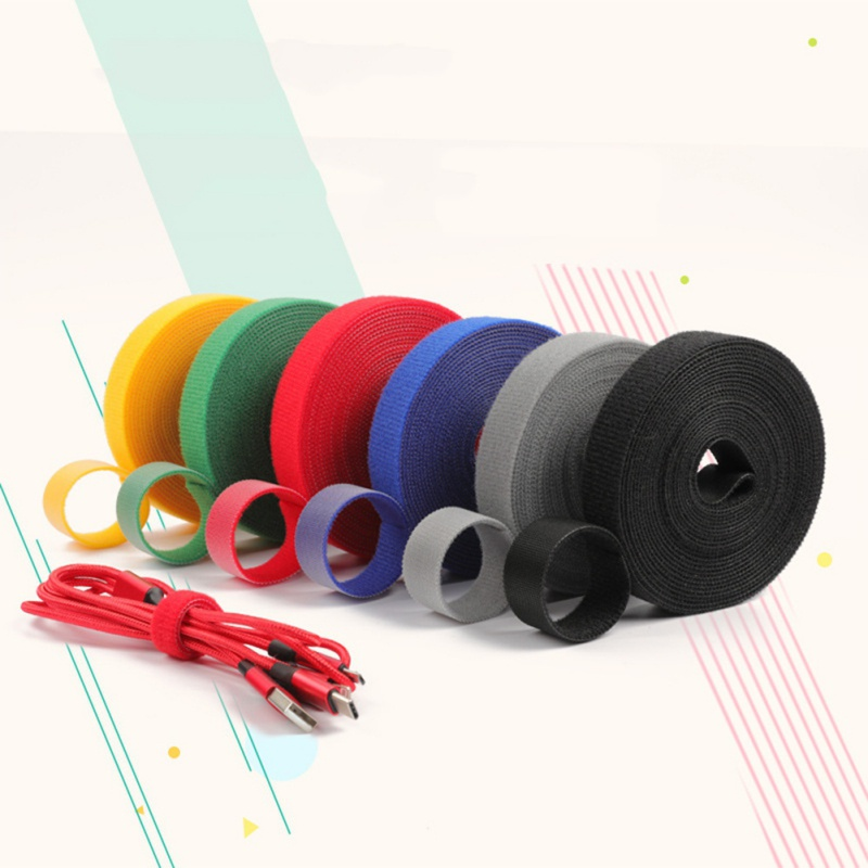 50Pcs Reusable Nylon Magic Tape PC Cable Tie Fasten Straps Wire Holder Organizer