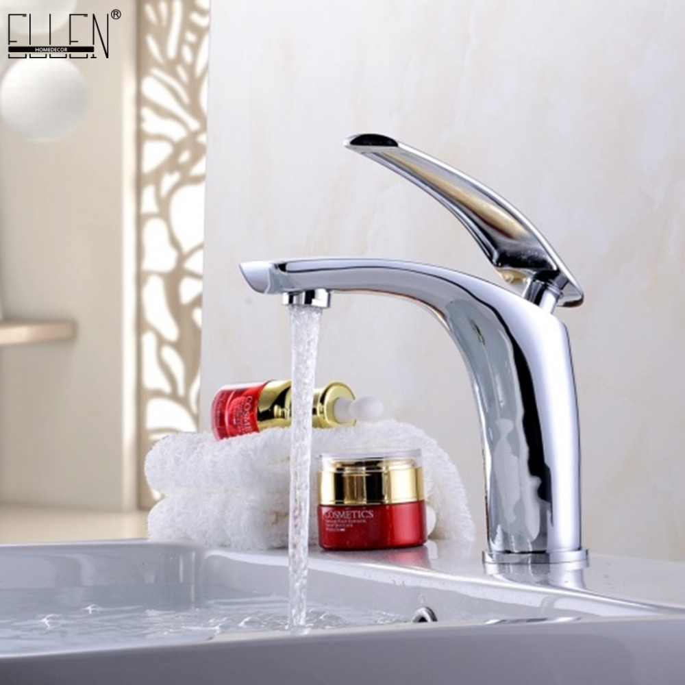 Bathroom Sink Faucet Hot and Cold Water Mixer Crane Chrome Finished Tap Toilet Basin White Gold