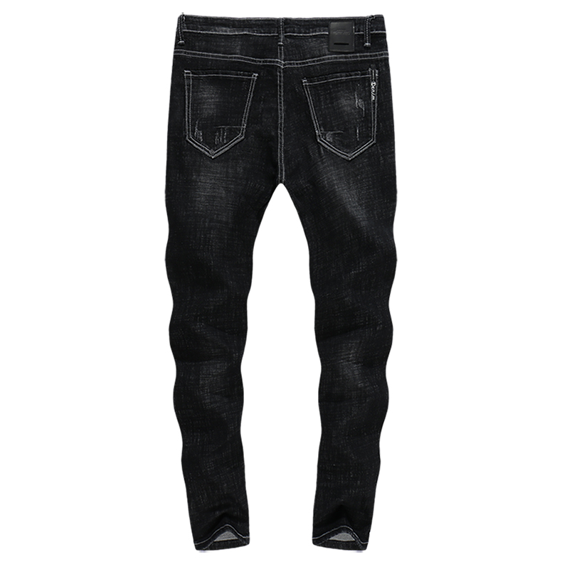 KSTUN Skinny Jeans Men Black Autumn 2018 Thick Denim Pants Patch Ripped Streetwear Stretch Casual