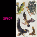 TONGMENG/GF607/Different eagle 3d tattoo Flash tattoos women arm temporary tattoo body art sticker sex products bod tatto tatoo