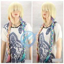mac makeup cosplay wig!!!  Colored Wigs Cos Super Meng Lolita Wig Braid Long Wig