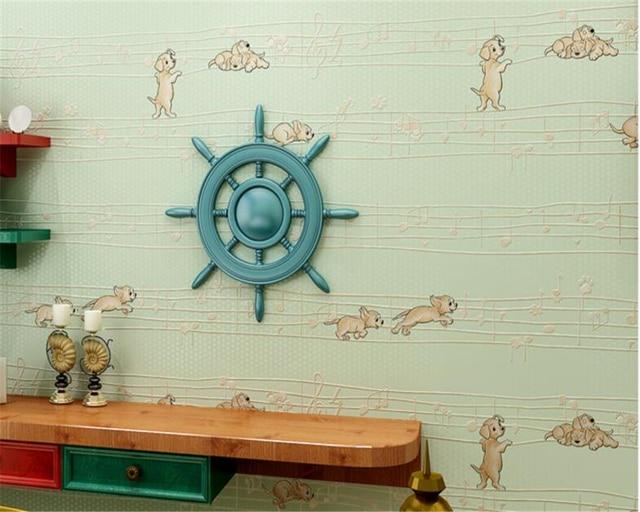 Beibehang Wallpaper For Living Room Kids Room 3d Wallpaper Cute