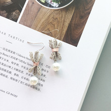 New 2019 Fashion Gold Long Drop Earrings Vintage Pearl Tassel Earring For Women