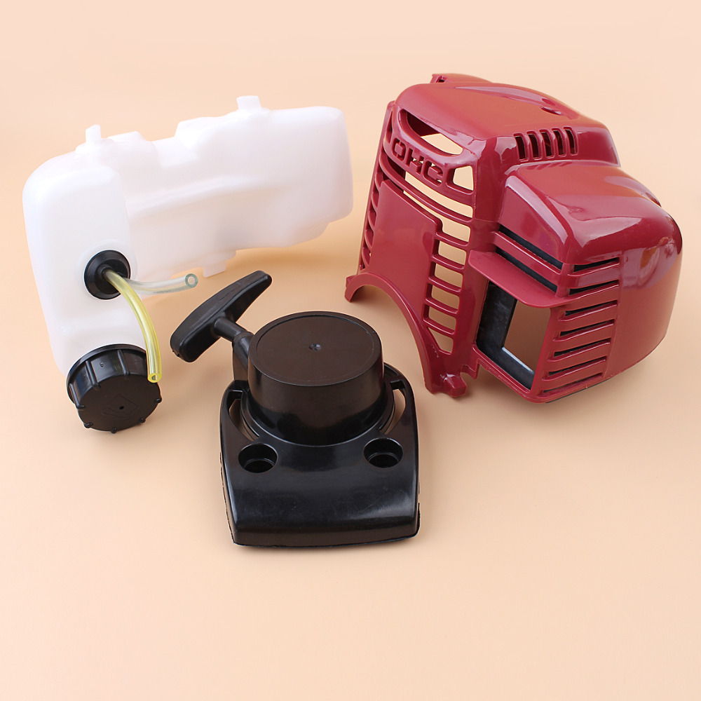 Top Engine Cylinder Cover Fuel Tank Pull Starter Kit For HONDA GX35 35CC 1.3HP 4-Cycle Engine Motor Trimmer Brushcutter