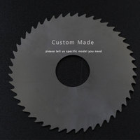 2PCS 100mm Milling Saw Blade Thick 0.7mm to 3mm 48TSolid Carbide Round Slitting Saw Cutter CNC Metal Milling Slotting Cutter