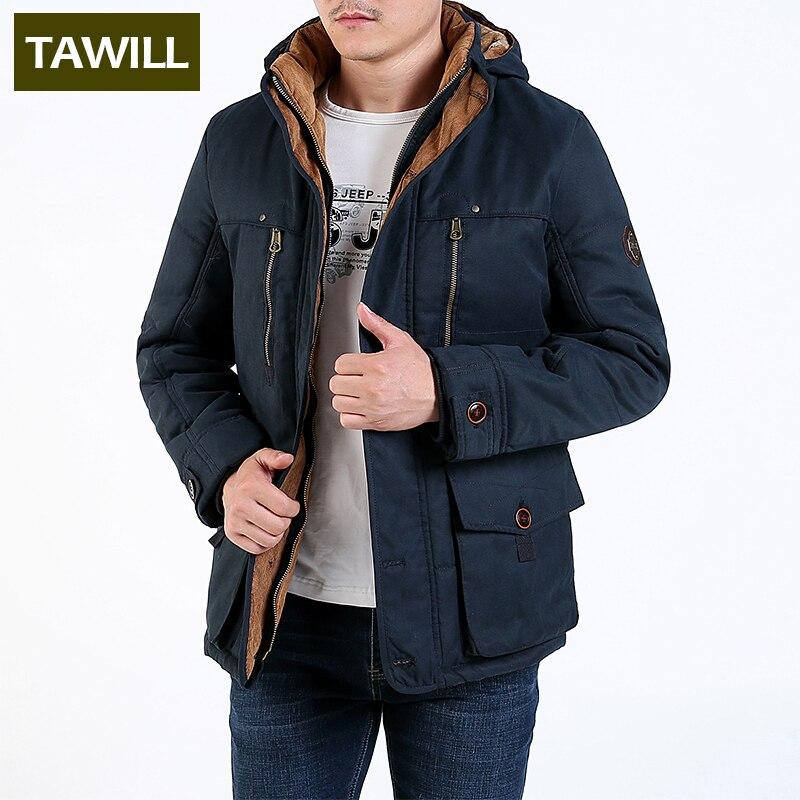 b6c0cdefabb TAWILL утепленная Флисовая теплая зимняя мужская куртка в стиле милитари  Мужская Новая брендовая одежда повседневные мужские
