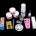DIY Простые Акриловые Nail Art Советы Комплект Жидкость Порошок Клей Направляющие Dappen Набор Инструментов