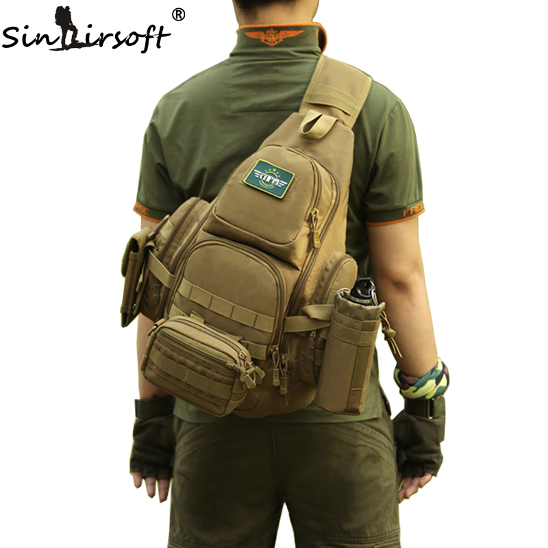 SINAIRSOFT 14iches Laptop Molle Military Backpack Men Nylon s