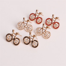 Sale 1Pair Women Girls Cute Fashion Charming Bike Bicycle Design 3 Colors Jewelry Gift