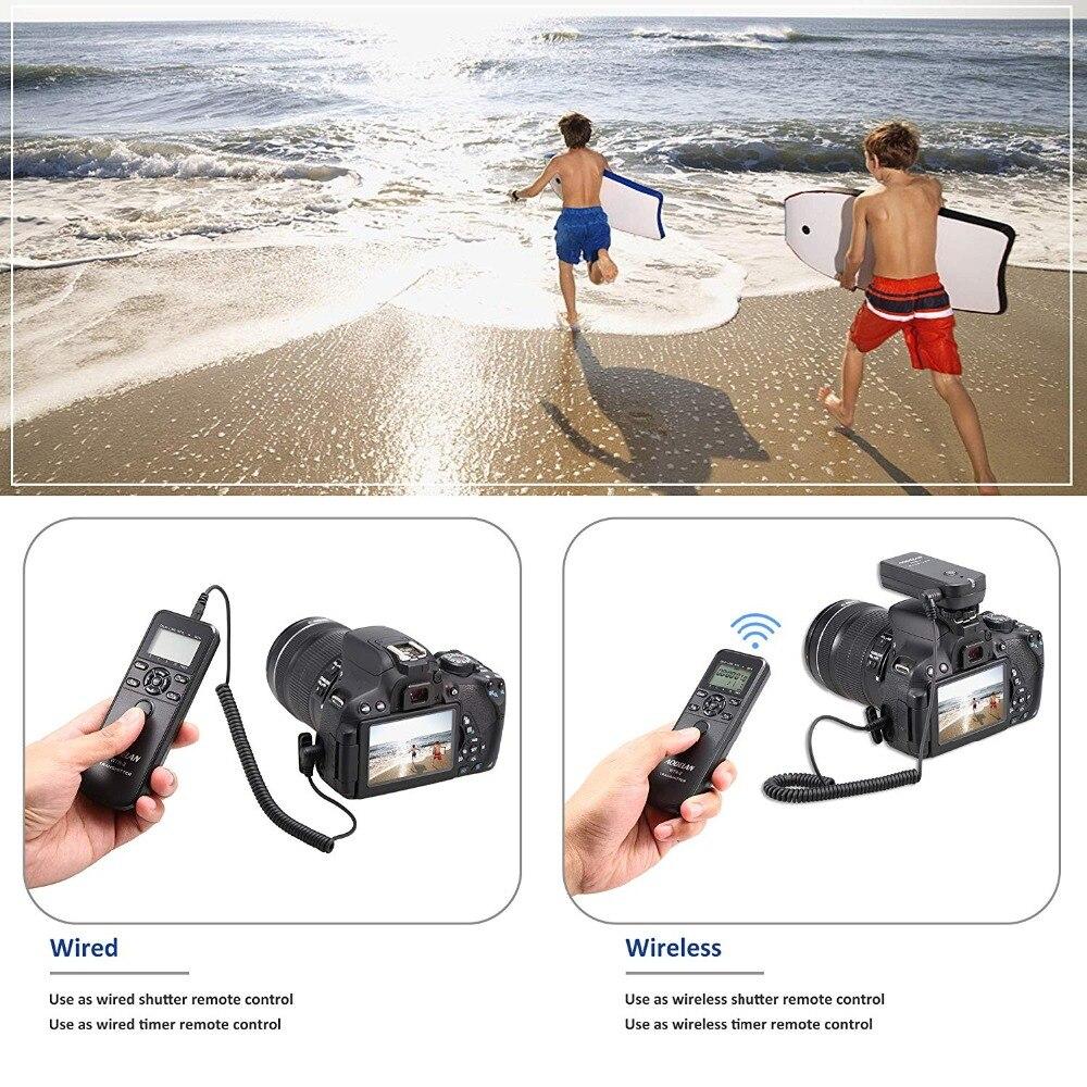 AODELAN WTR2 sans fil minuterie télécommande caméra déclencheur pour Canon EOS R, 80D, 77D, 70D, 60D, 800D, 200D, 7D Series, 5D - 2