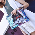 Cute cat fashion sequins pattern badge personalized envelope clutch bag ladies shoulder bag women's handbag messenger bags purse