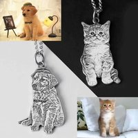 Jisensp 925 Sterling Silver Jewelry Personalized Custom Pet Necklace for Women Men Gift Fashion Engrave Word Necklaces Pendants