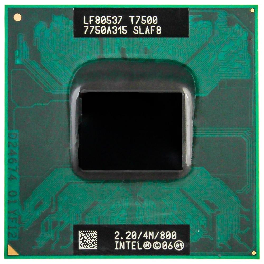 Intel CPU Core 2 Duo T7500 CPU 4M Socket 479 Cache/2.2GHz/800/Dual-Core Laptop Processor