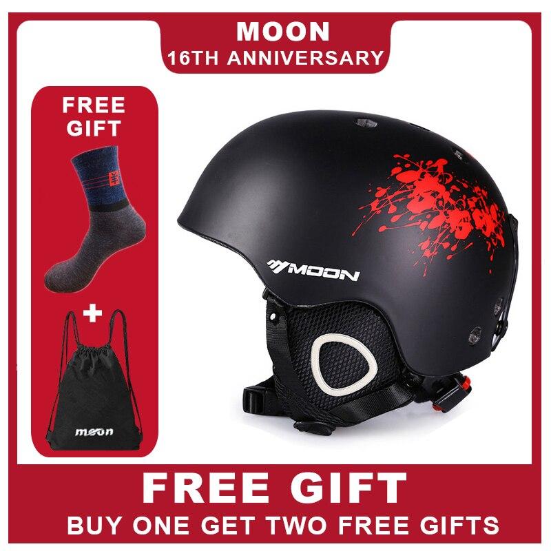 Kraftvoll Mond Skifahren Helm Pc + Eps Ultraleicht Ce Zertifizierung Integral Geformten Atmungsaktive Ski Helm Snowboard/skateboard Helm üBerlegene Leistung