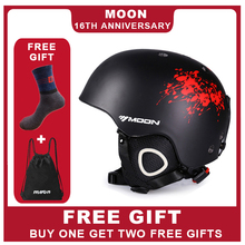 MOON Skiing Helmet PC+EPS Ultralight CE Certification Integrally-Molded Breathable Ski Helmet  Snowboard/Skateboard Helmet