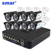 Smar 8CH 1080N AHD DVR комплект 5 в 1 8 шт. 720 P/1080 P наружная система видеонаблюдения ИК камера для камеры наблюдения