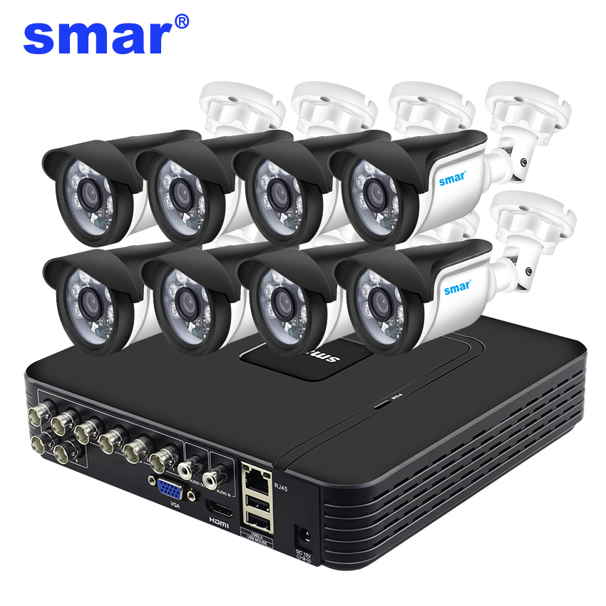 Smar 8CH 1080N AHD DVR Kit 5 IN 1 8 pz 720 p/1080 p Esterna del CCTV Sistema di Telecamere IR di Sicurezza della Macchina Fotografica di Video Sistema di SorveglianzaSmar 8CH 1080N AHD DVR Kit 5 IN 1 8 pz 720 p/1080 p Esterna del CCTV Sistema di Telecamere IR di Sicurezza della Macchina Fotografica di Video Sistema di Sorveglianza