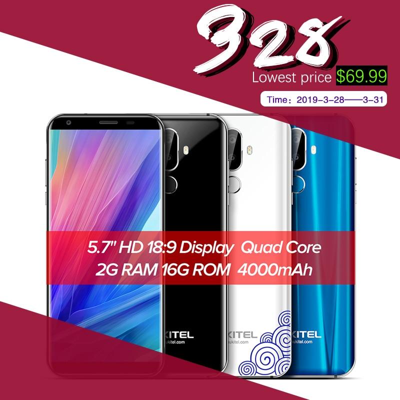Oukitel K5 4G 5.7 pollici 18:9 Display MTK6737T Del Telefono Mobile Android 7.0 2G 16G Quad Core 4000 mAh 3 Telecamere di Impronte Digitali Smartphone