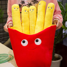 2019 Creative Toy 50/30cm3D Fries Pillow Simulation Food Play Home Plush Toys Send Girlfriends To Childrens Birthday Gifts