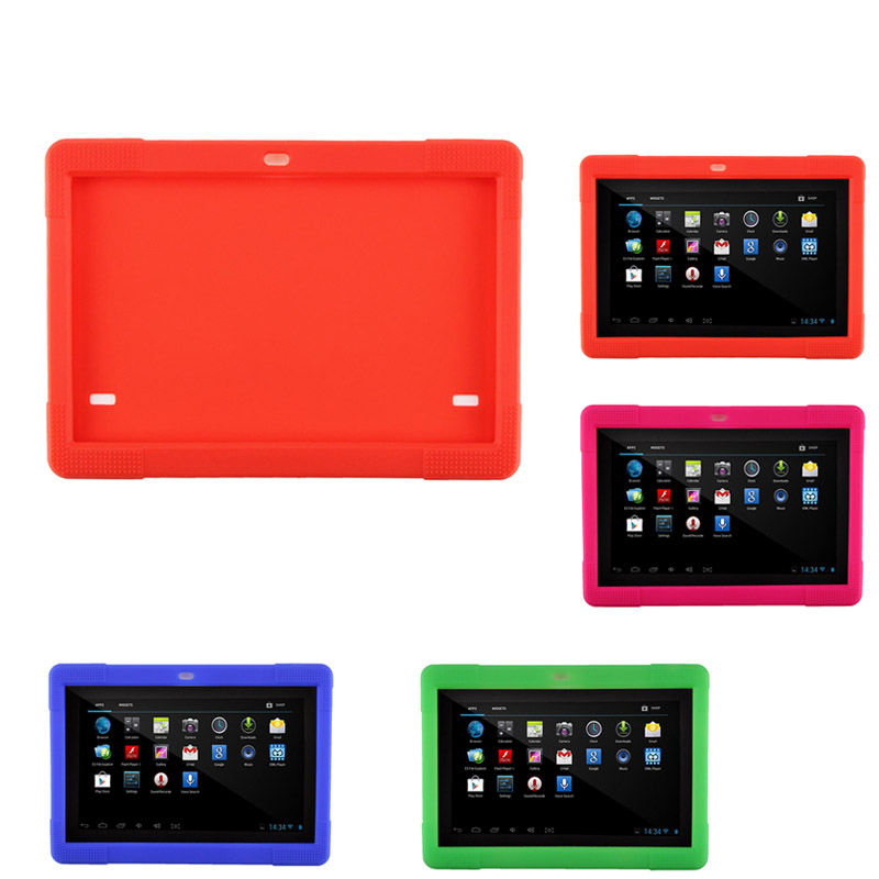 цены  10.1 inch Silicone Case Tablet Cover for Tab MTK8752 K107 S107 MTK6592 3G 4G Tablet QJY99
