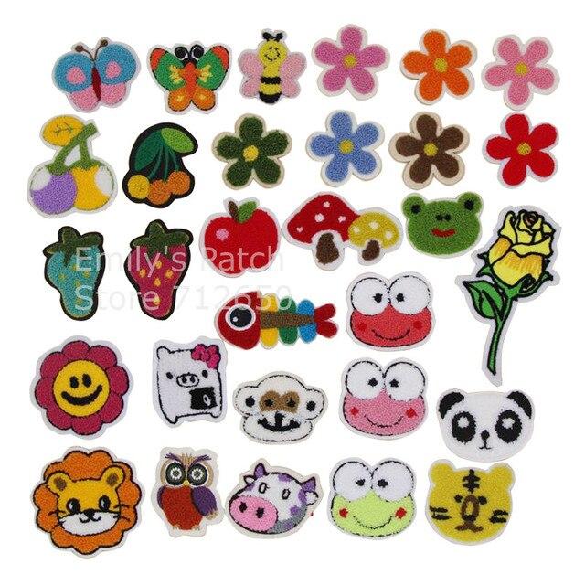CPAM libre 10 piezas flores búho Rana coser toalla Applique del ...