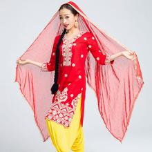 India Sarees Traditional Woman Kurtas Yoga Costume Cotton Embroidery Top Scarf