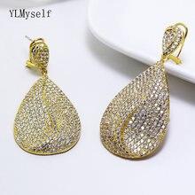 Большие женские серьги украшения для вечеринок большие с кристаллами