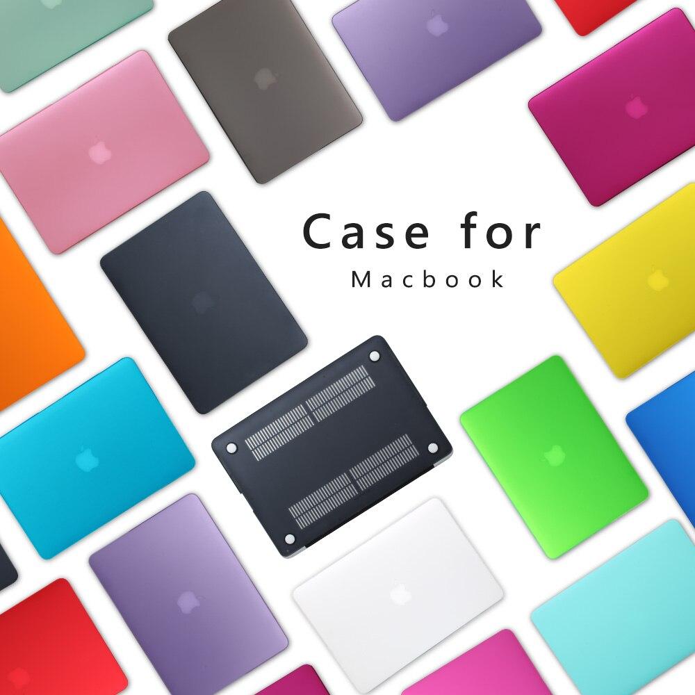 Premium Neue Mattfall Für Apple MacBook Air 11 13 zoll Laptop Sleeve für Mac book Pro 13 15 mit Retina keyboard abdeckung