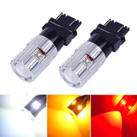 2x Bosmaa led T25 3157 Chips T25 3157 LED Backup Turn Signal Tail Brake Stop lights Bulbs White Red Yellow