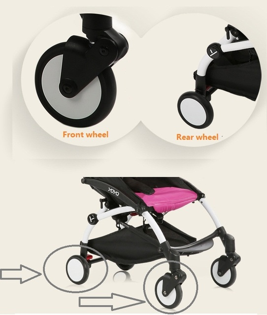 1pcs New  Baby Stroller Accessories front or rear wheel fit I.BELIVE Babyzenes Yoyo Yoya YuYu Infant Carriage baby Pram