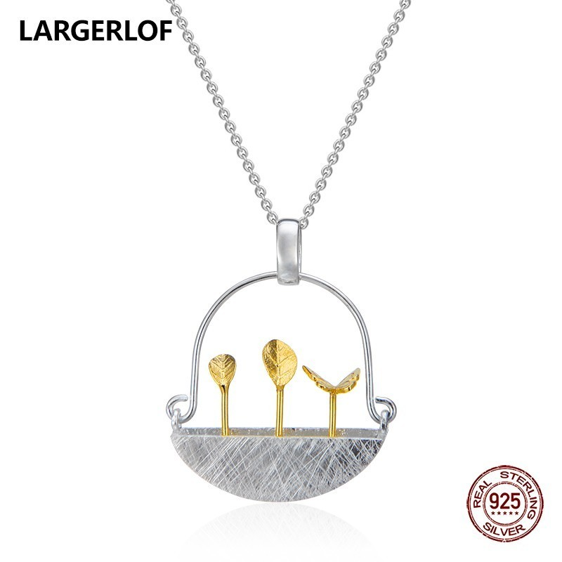 LARGERLOF 925 Sterling Silver Pendants Necklaces Women Silver 925 Jewelry Fine Jewelry Necklaces Pendants Silver PD470002 цена