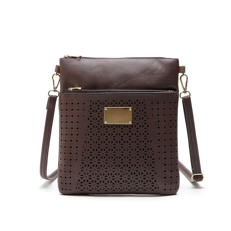 DAUNAVIA Vintage Hollow Out Flower Envelope Bag Small Women Leather Crossbody bag Shoulder bag Messenger bag Clutch Handbag