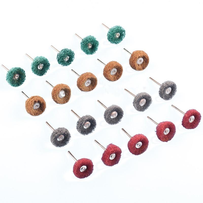 Mayitr 20pcs/lot Polishing Wheel Buffing Pad Brush For Rotary Tools Abrasive Polishing Power Tools Accessories