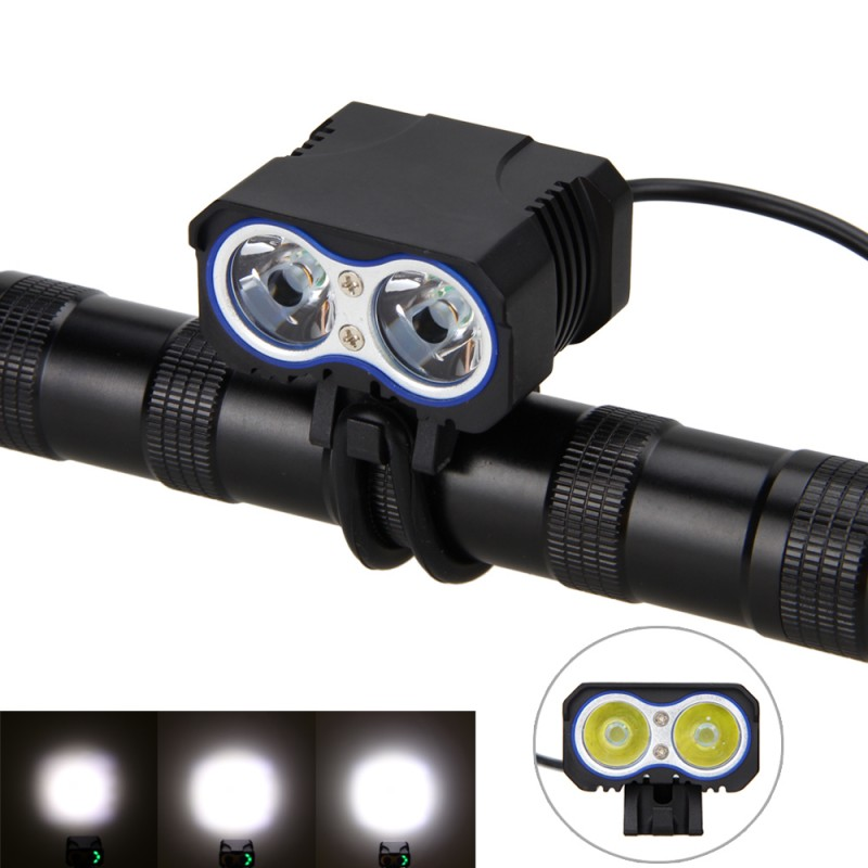Cycling Bicycle Bike light Torch 10000Lumen 2x XM-L T6 LED flashlights Lamp for Bike only Headlight lumiparty 4000lm headlight cree t6 led head lamp headlamp linterna torch led flashlights biking fishing torch for 18650 battery