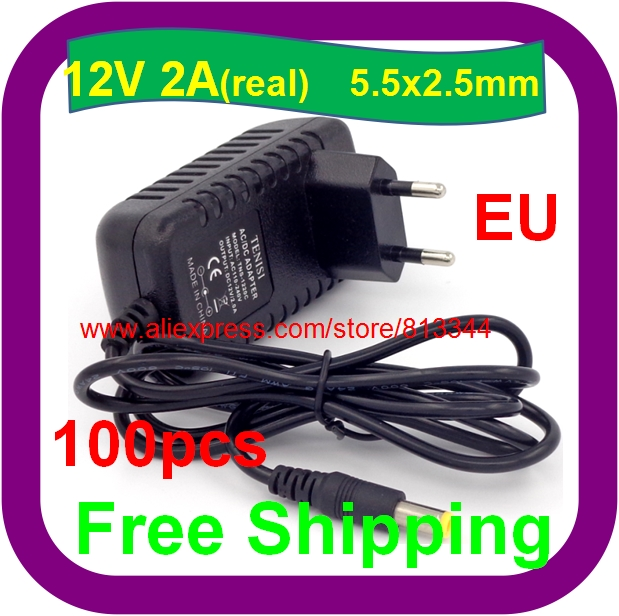 12V 2A EU Plug AC/DC Power adapter charger 12V 2000mA Power Adapter for  CCTV camera-in AC/DC Adapters from Home Improvement on Aliexpress com |