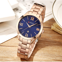 Luxury Rose Gold Women Watches Curren relogio feminino Ladies Quartz Watch Fashion Brand Clock Wrist Watches Best Gift for Women curren women watches luxury gold black full steel dress jewelry quartz watch ladies fashion elegant clock relogio feminino 9015