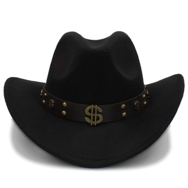 Lana moda mujeres hueco Sombrero de vaquero occidental señora Fascinator  Jazz Cappello Uomo Sombrero Hombre Montana. Sitúa el cursor encima para ... d75a01df6c4