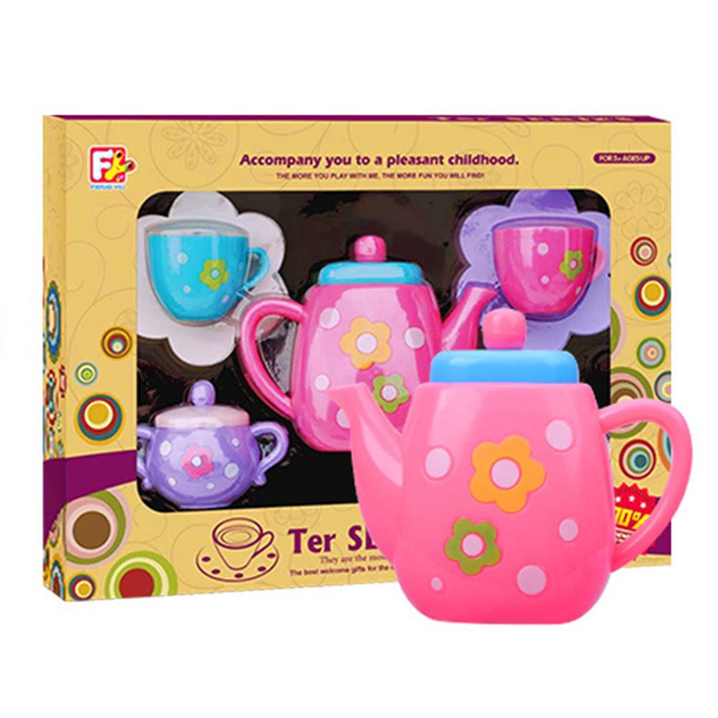 Kids Simulate Tea Set Play Tools House Educational Toy Kitchen Tools Toys Play Set Teapot Role Baby Early Education Puzzle Gift