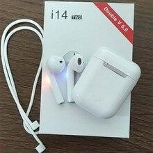 2019 новый оригинальный i14 air СПЦ мини Беспроводной Bluetooth 5,0 3D super bass ear телефон pk i10 i11 xy стручки i16 i12 i17 i18 i13 i15 СПЦ