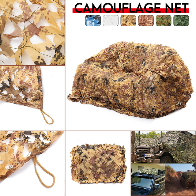 3x4m/4x5m Hunting Military Digital Desert Camouflage Nets Woodland Army Camo netting Camping Sun ShelterTent Shade sun shelter