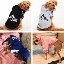 Одежда для больших собак золотистый ретривер, собака большого размера зимние пальто для собаки с капюшоном Одежда для собак спортивная одежда S-9XL