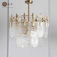 French Design Crystal Chandelier / All Brass Made