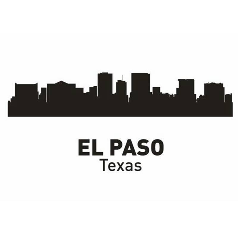 Dctal Эль-Пасо город этикета ориентир Skyline Наклейки на стену эскиз плакат Parede Домашний Декор Стикеры