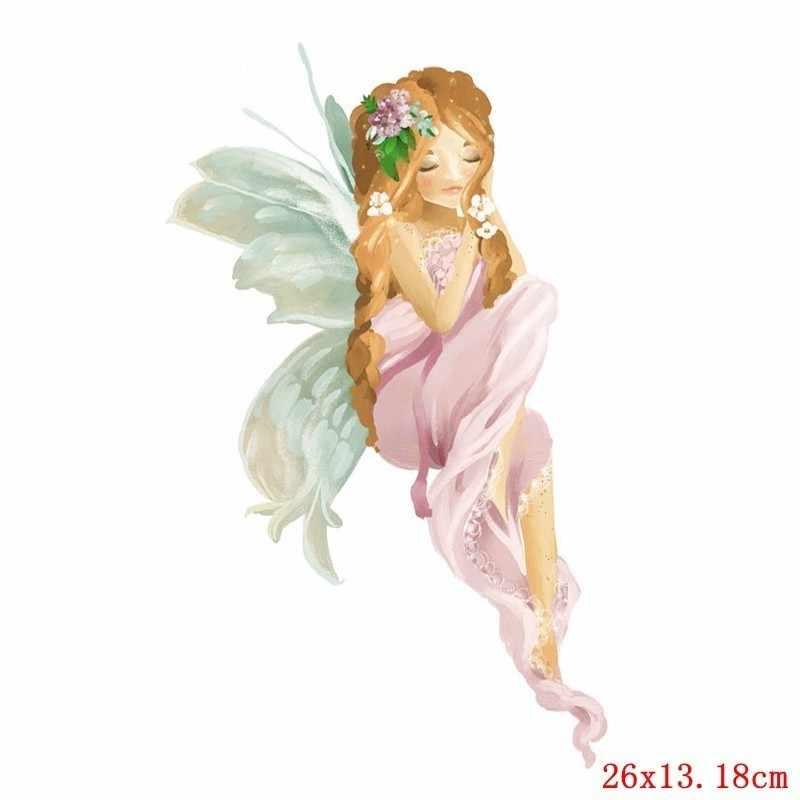 Pulaqi милый цветок фея патч утюг-на одежду Костюмы Декор Diy аксессуары теплообмена моющиеся значки патчи новый дизайн H