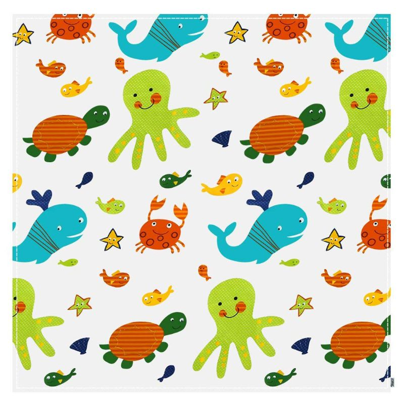 Baby Printed Washable Foldable Waterproof Splash Mat Anti Slip Floor Protector For Kids Toddler For Feeding Highchair Indoor