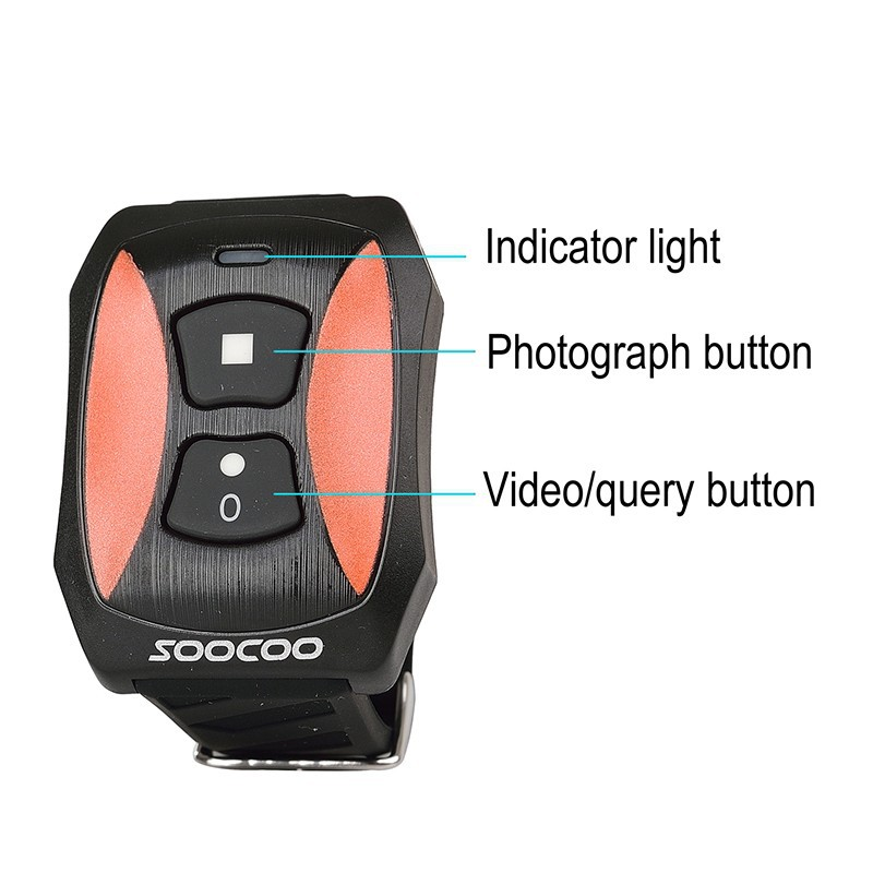 SOOCOO S70 Action Camera watch remone control