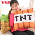 1pcs 40cm Minecraft Pillow Plush TNT Pillow Cartoon Baby Toy Pillow,Kawaii Minecraft TNT Toys,brinquedos minecraft Free Shipping